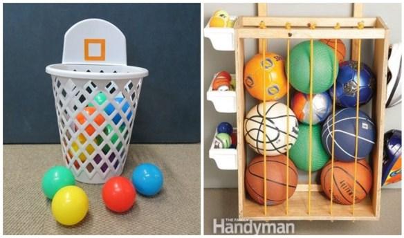 como guardar organizar bolas brinquedos quarto pequeno 2