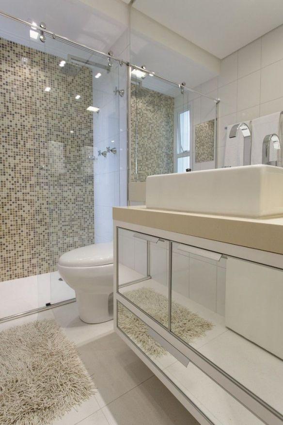 decoracao banheiros pastilhas box cores neutras