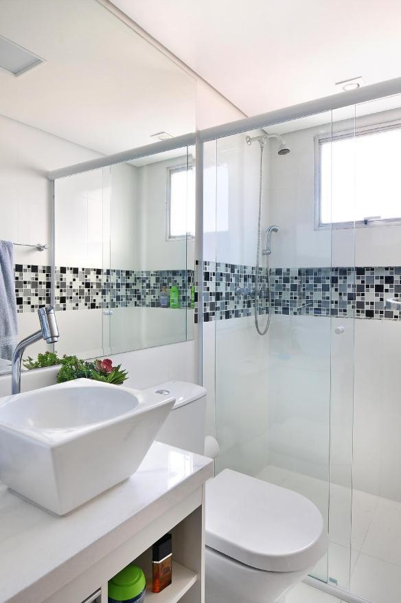 faixa pastilha boxe banheiro decorado