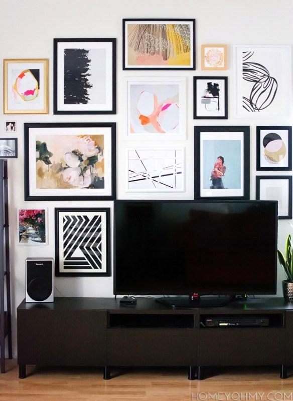 galeria quadros parede tv decoracao