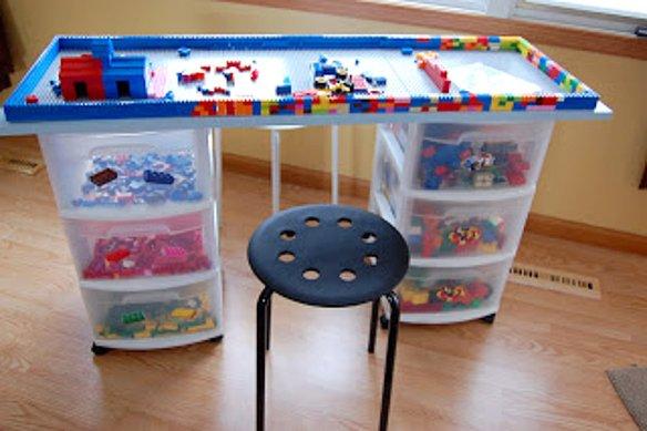 gaveteiros lego mesa para legos