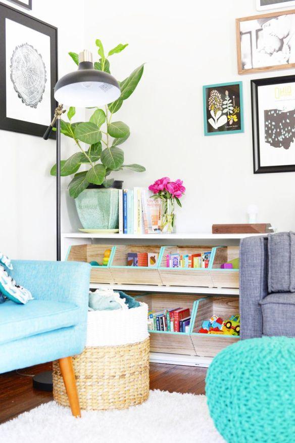 ideias organizar brinquedos sala