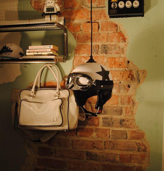 luminaria criativa capacete