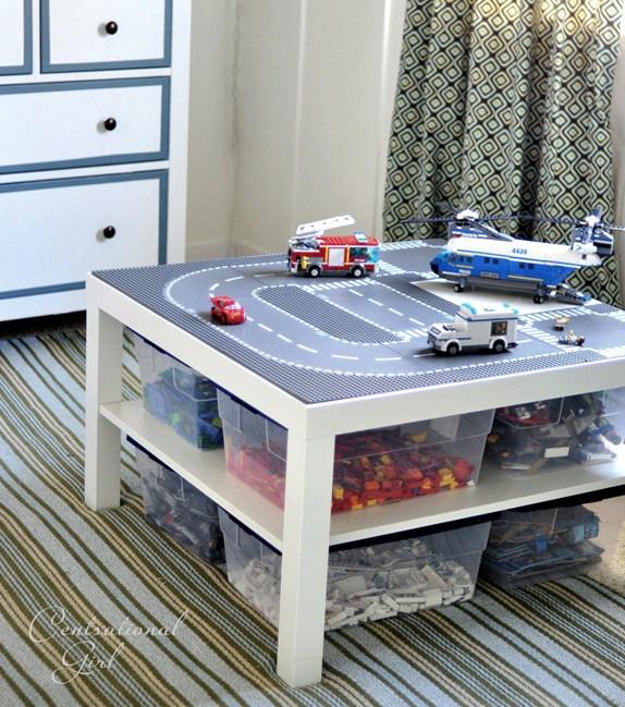 mesinha lego organizacao caixas plasticas