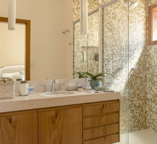 pastilhas tons amarronzados banheiro decoracao