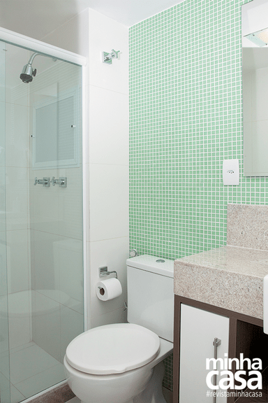 pastilhas verde decoracao banheiro