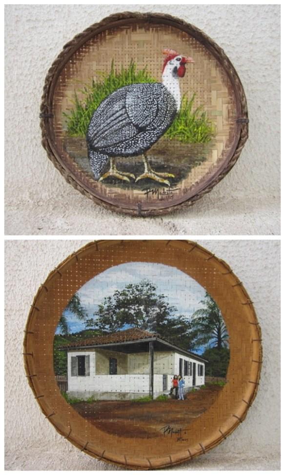 pintura peneira de palha