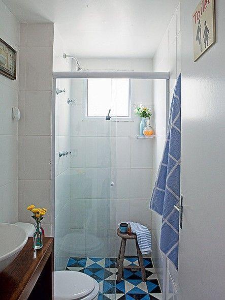 piso geometrico banheiros decorados