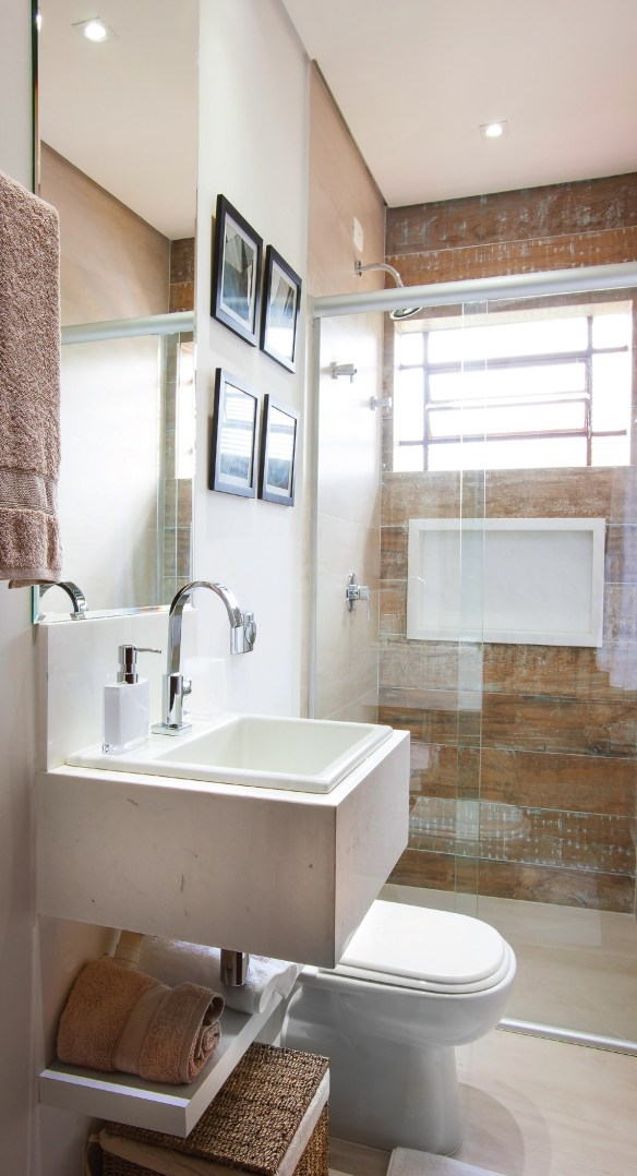 porcelanato imita madeira parede do boxe decoracao banheiro