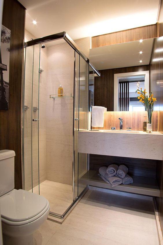 porcelanato que imita madeira parede banheiro decoracao