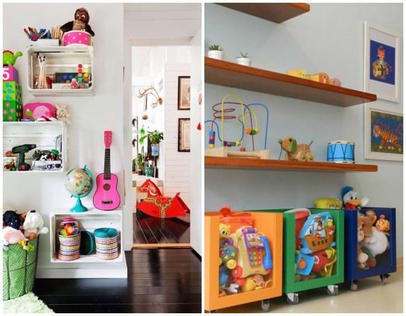 prateleiras nichos caixotes organizacao quarto de criancas