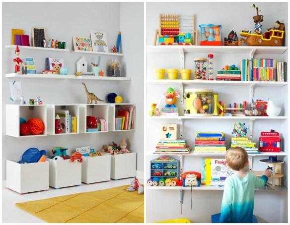 prateleiras nichos organizacao quarto de criancas