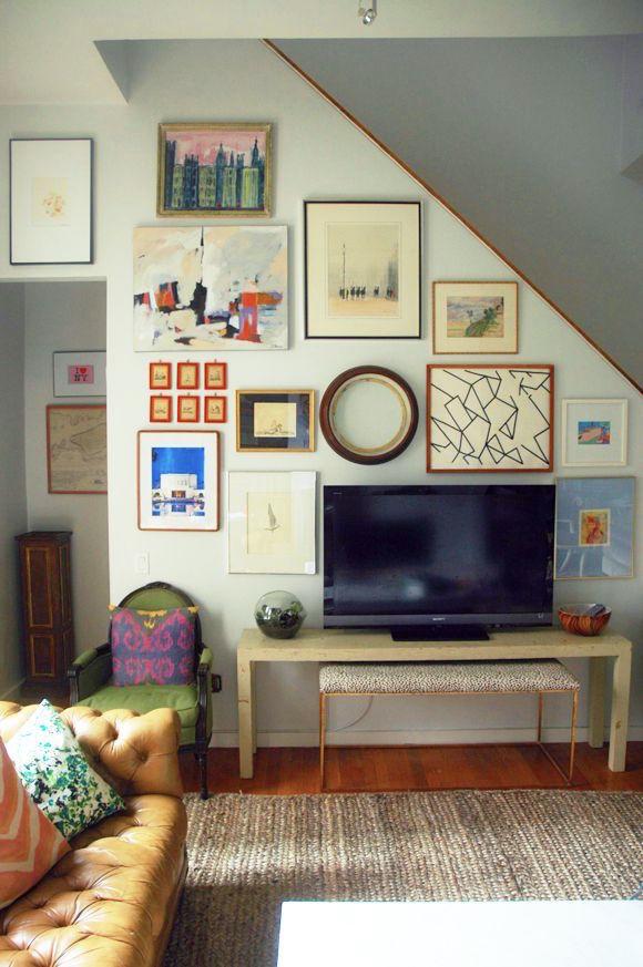 quadros parede tv escada