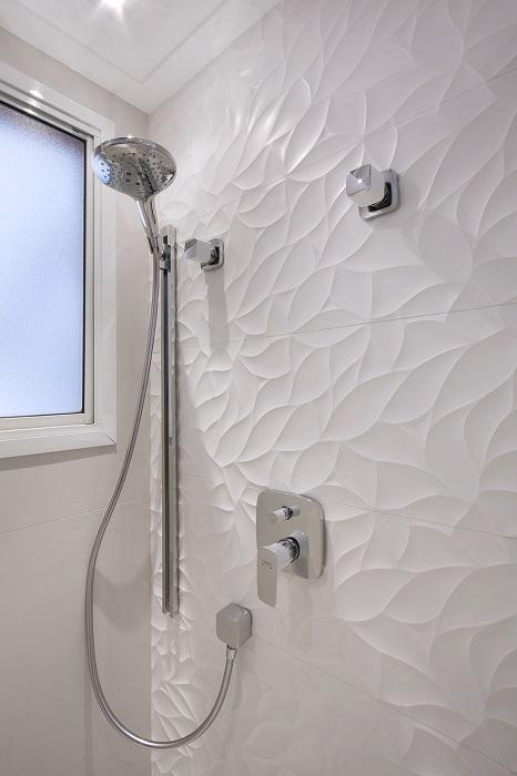 revestimento 3D parede banheiro boxe chuveiro