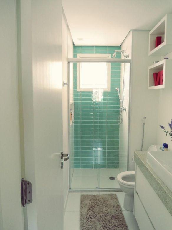 revestimento verde parede banheiro