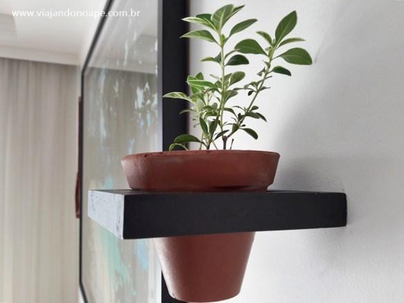 suporte para plantas de parede madeira faca voce mesmo diy vasos suspensos sala estar