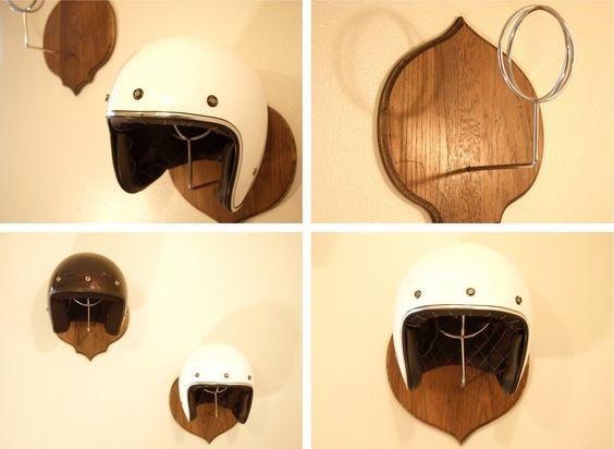 suportes para capacete ideias