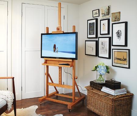 tv cavalete pintura ideias criativas decoracao 2