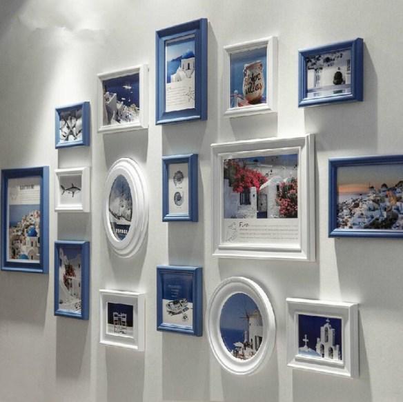 composicao quadros parede duas cores moldura ideias decoracao
