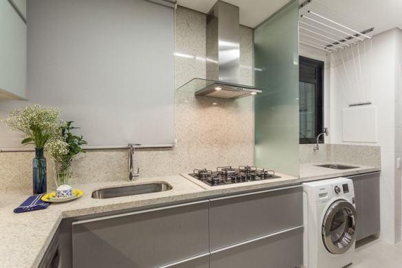 separacao cozinha area de servico vidro sobre bancada divisao parcial