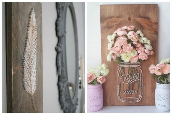 decoracao com linha e pregos quadro madeira ideias criativas decoracao faca voce mesmo diy