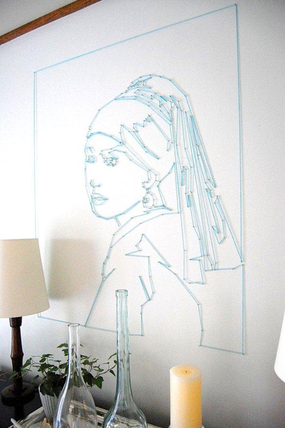decoracao com prego linha parede arte linhas decoracao criativa