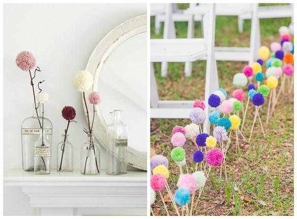 decoracao pompom casamento flores faca voce mesmo diy