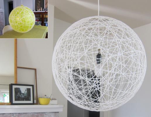 luminaria pendente lustre bola faca voce mesmo diy barbante linha