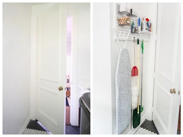 organizacao lavanderia area de servico espaco atras da porta tabua passar roupa