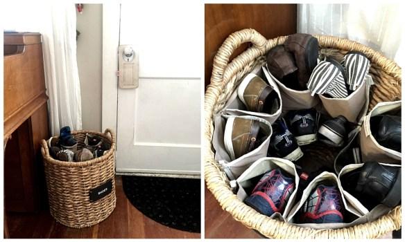 organizacao sapatos porta entrada hall cestos 2