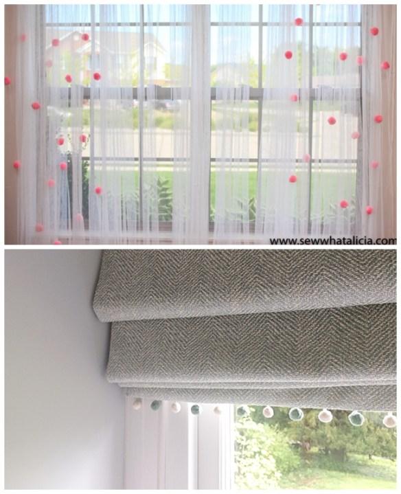 pompons detalhes cortina faca voce mesmo diy