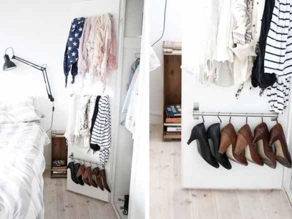porta guarda roupa aproveitamento espaco organizacao lencos sapatos