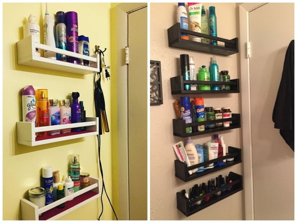 prateleiras atrás da porta ideias pequenos espacos organizacao banheiros pequenos apartamento 2