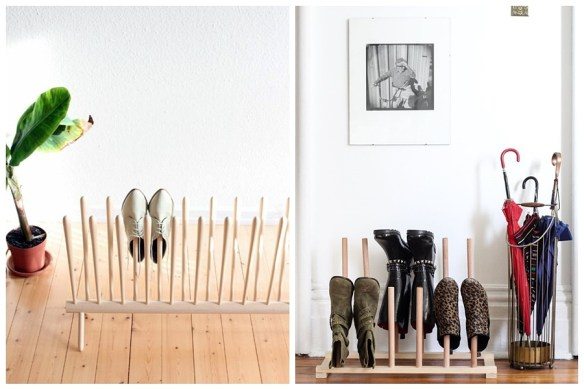 sapateira calcadeira madeira hall entrada organizar sapatos calcados porta entrada