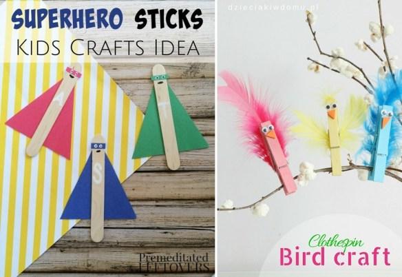 atividades artes criancas materiais baratos palito sorvete picole prendedor roupa 2
