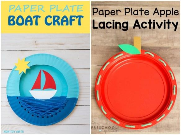 atividades artes criancas pintura prato de papel linha