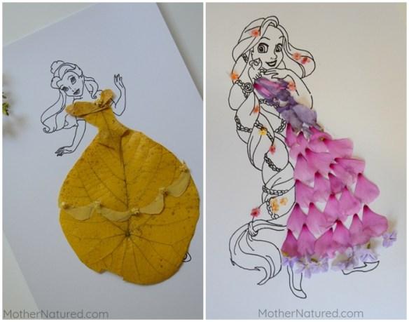 atividades criancas colagem vestidos princesas ideias criativas petalas flores