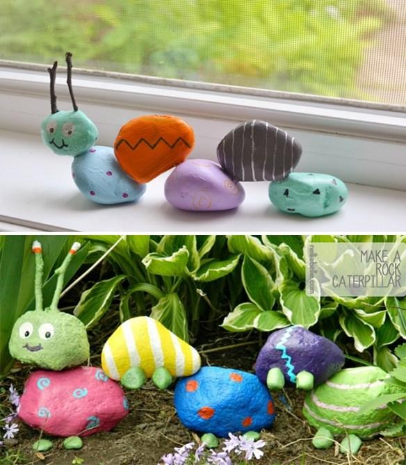 atividades criativas criancas pintura pedras centopeia