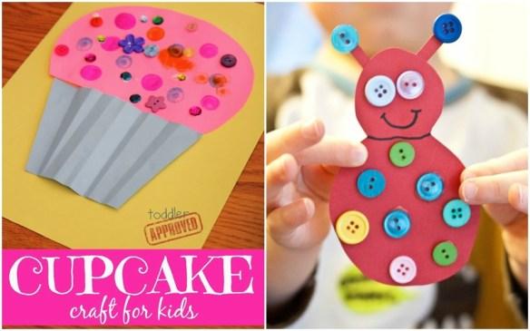 atividades infantis criancas colagem botoes