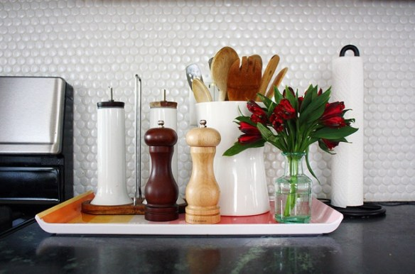 bandeja organizacao bancada cozinha temperos como decorar cozinha