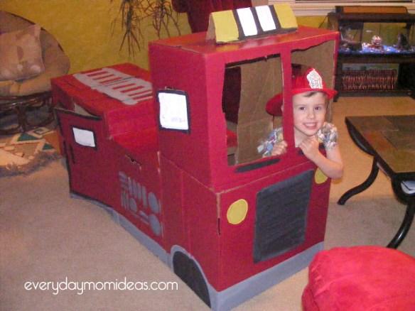 carro bombeiro caixa papelao faca voce mesmo diy