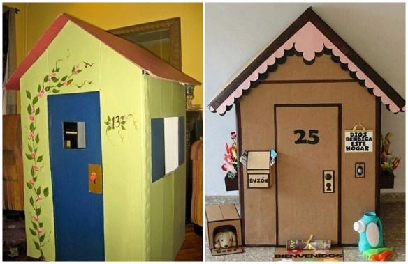 casinha de papelao decoradas construções com papelão criatividade faca voce mesmo diy