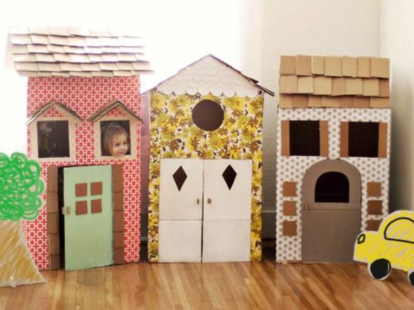 casinhas de papelao decoradas ideias criativas faca voce mesmo diy