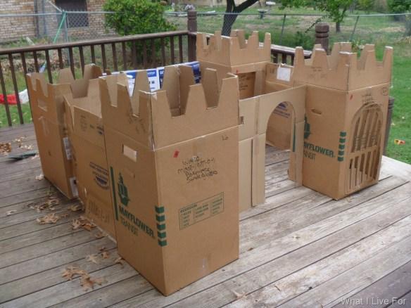 castelo caixas papelao faca voce mesmo diy
