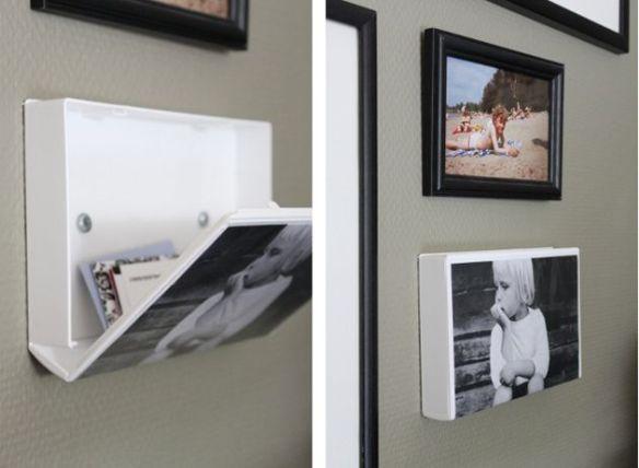 compartimento secreto porta treco parede estojo vhs ideias criativas moldura foto projetos utilizando fotos