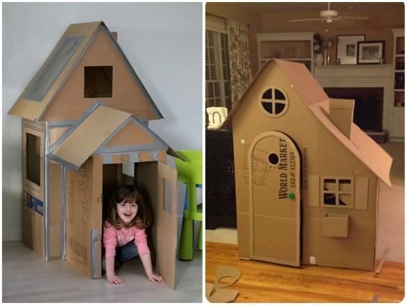 construções com papelão casinha de papelao faca voce mesmo diy passo a passo