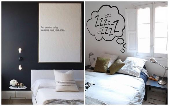 decoracao divertida quarto quadro frase adesivo fun decor bedroom