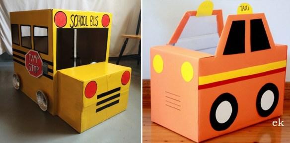 onibus caixa papelao carro faca voce mesmo diy 2