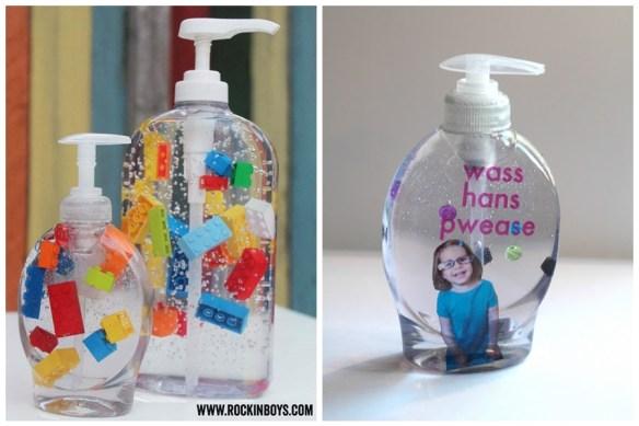 porta sabonete liquido divertido criancas faca voce mesmo -DIY-Soap-Dispensers