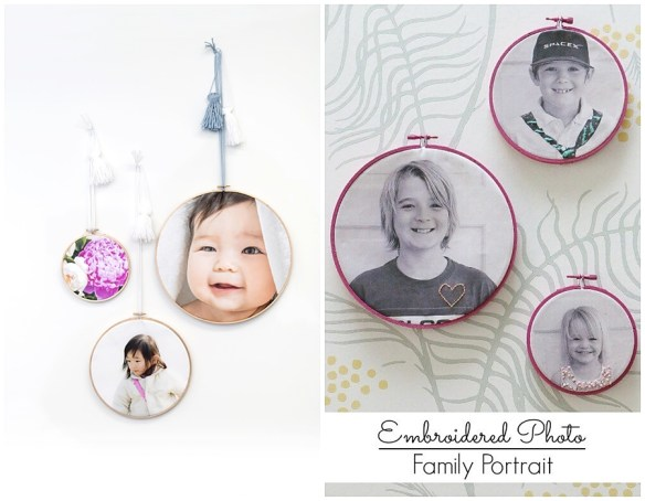 projetos com fotos ideias criativas para expor fotografias bastidor bordado fotos